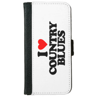 COUNTRY BLUES WALLET PHONE CASE FOR iPhone 6/6S