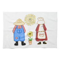 Country Boy and Girl Kitchen Towel