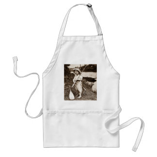 Country Boy - Vintage Stereoview Adult Apron