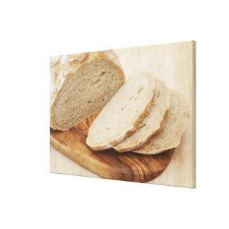 Country Bread (Pain de Campagne) on a chopping Canvas Print