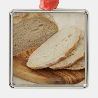 Country Bread (Pain de Campagne) on a chopping Metal Ornament