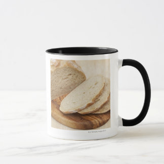 Country Bread (Pain de Campagne) on a chopping Mug