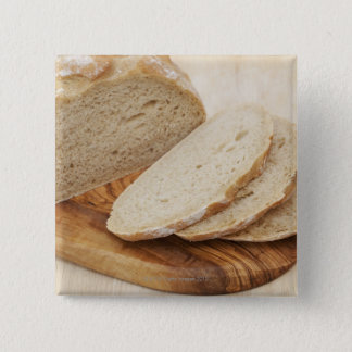 Country Bread (Pain de Campagne) on a chopping Pinback Button