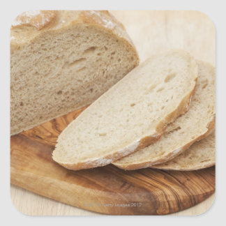Country Bread (Pain de Campagne) on a chopping Square Sticker