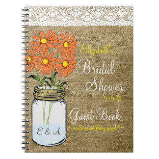 Country Bridal Shower Guest Book- Notebook