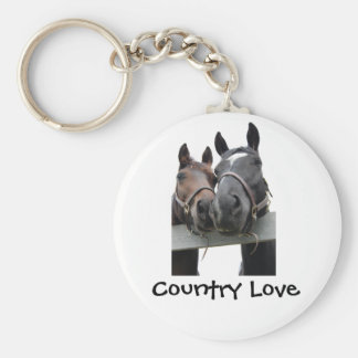 Country Bride and Groom Keychain