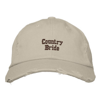 Country Bride Embroidered Hat