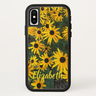 Country Brown Eyed Susans with Name iPhone X Case
