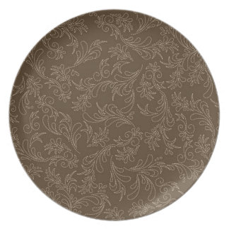 Country Brown Stitch Pattern Plate