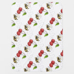 Country Bumble Bee Unisex Baby Blankets