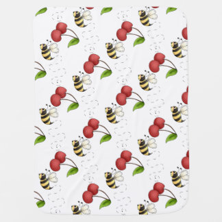 Country Bumble Bee Unisex Swaddle Blanket