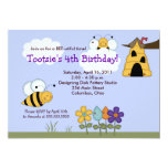 Country Bumble Bees 5x7 Beehive Birthday Invite
