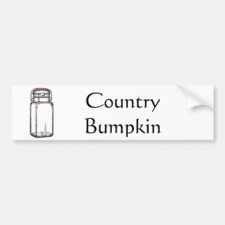 Country Bumpkin Bumper Sticker
