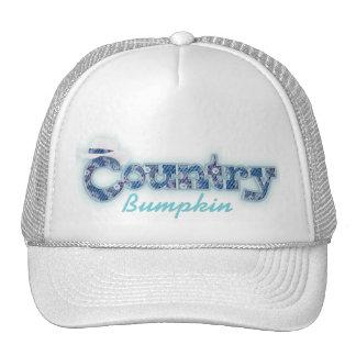"""Country bumpkin"" denim blue aqua white hat"