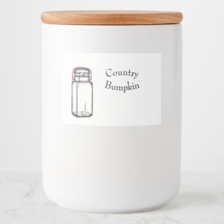 Country Bumpkin Food Label