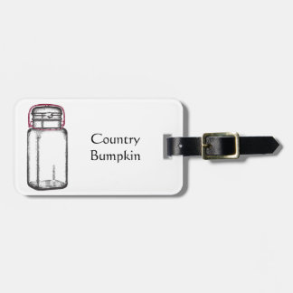 Country Bumpkin Luggage Tag
