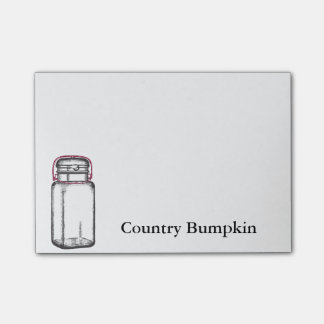 Country Bumpkin Post It Notes