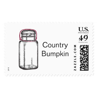 Country Bumpkin Postage Stamp