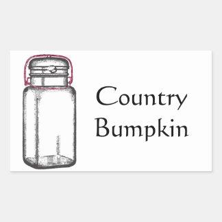 Country Bumpkin Rectangular Sticker
