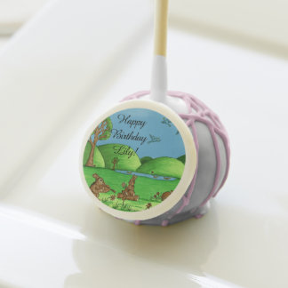 Country Bunnies Cake Pop Party Treat