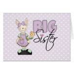 Country Bunny Big Sister (violet) Stationery Note Card
