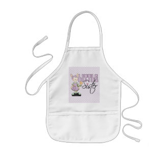 Country Bunny Little Sister (violet) Kids' Apron