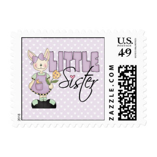 Country Bunny Little Sister (violet) Postage