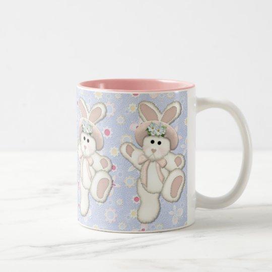 Country Bunny Two-Tone Coffee Mug