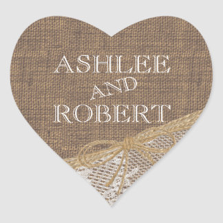 Country Burlap and Twine Stickers