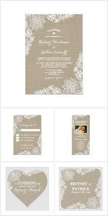 Country Burlap & Floral Lace Wedding Collection
