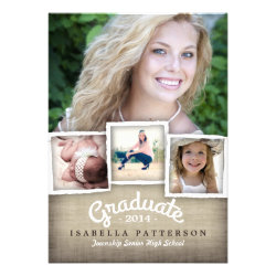 Country Burlap Graduation 2014 Invitation