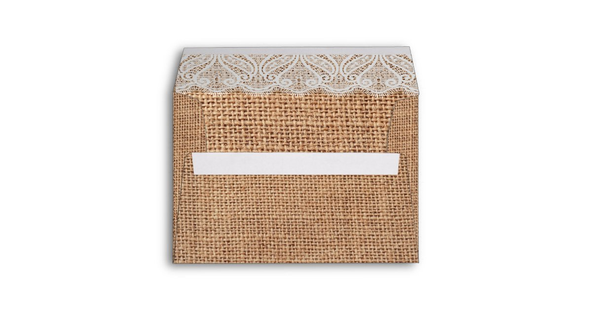 country sunflower tables country burlap sunflower lace twine print envelope zazzlecom