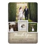 Country Burlap Wedding Photo Thank You Card