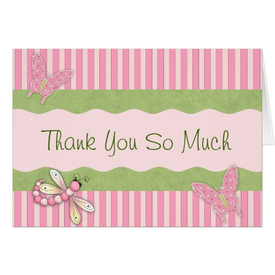 Country Butterfly Thank You Card