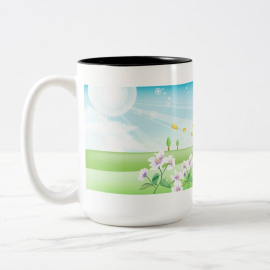 Country Butterfly Two-Tone Coffee Mug