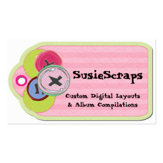 Country Buttons Scrapbooking Tag Business Card