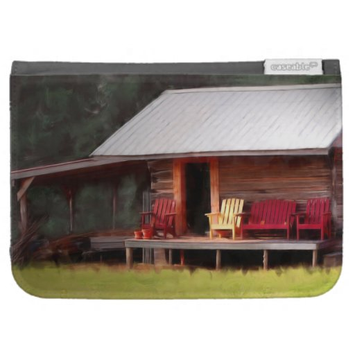 Country cabin adirondack chairs kindle 3g covers zazzle for Adirondack country cabins