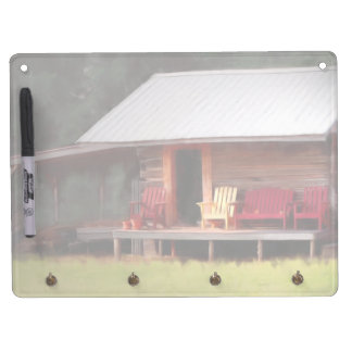 Country Cabin Adirondacks Dry Erase Board With Keychain Holder