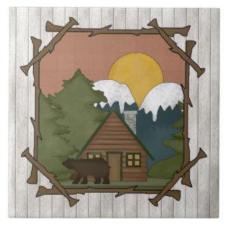 Country Cabin Cartoon fun tile