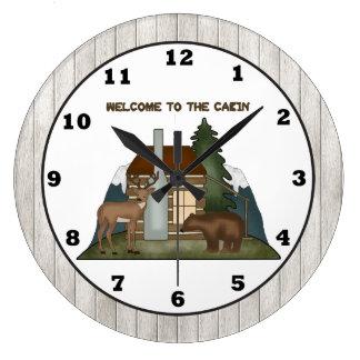 Country Cabin fun wall clock