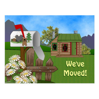 Country Cabin Moving announcement Notice Postcard
