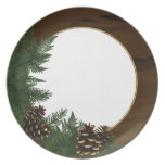 Country Cabin Pine Cone Dinnerware Party Plates