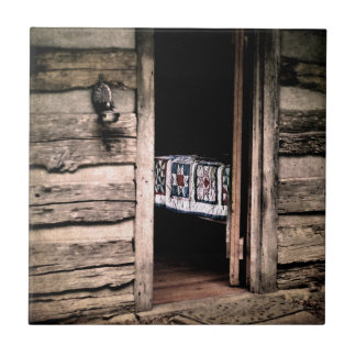 Country Cabin Quilt Ceramic Tile