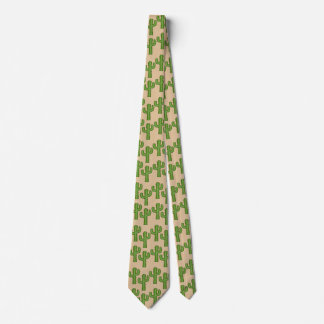 Country Cactus pattern fun tie