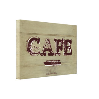 Country Cafe Kitchen Canvas Print, Weathered Ivory