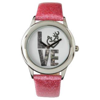 Country Camo Love Girl's Watch