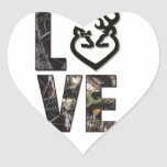 Country Camo Love Heart Stickers