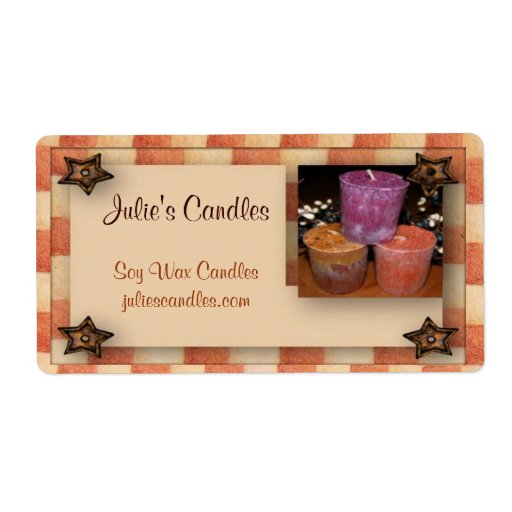 country candles label shipping label zazzle With country candle labels