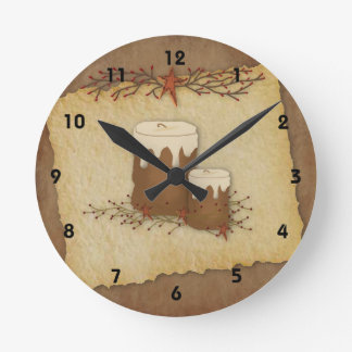 Country Candles Wall Clock