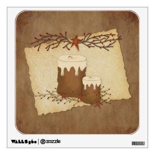 Country Candles Wall Decal